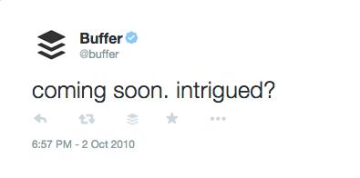 Buffer's first tweet