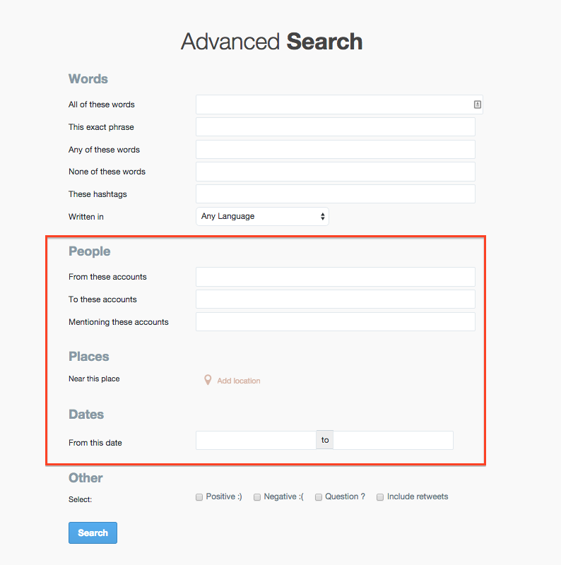 Twitter archive search