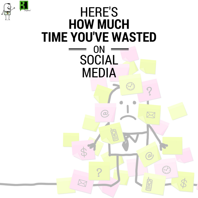 time wasted on social media