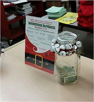 Through a donation drive, LLCC students gave some of their buyback money to help fellow students in need.