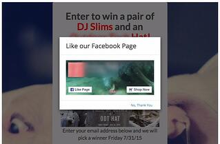 """Example of """"Like-This"""" entry popup"""