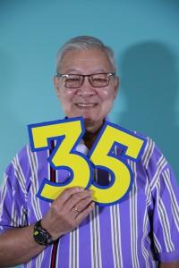 Senior Systems Operator Quang Trang celebrated his 35th year at MBS