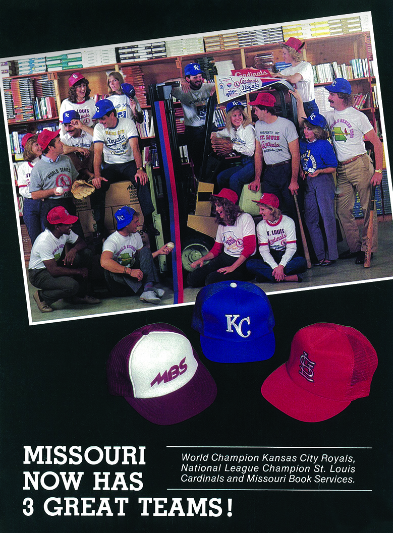 Being centrally located between St. Louis and Kansas City, MBS has had its share of both Cards and Royals fans over the years. In this 1985 CAMEX ad, you can spot Territory Managers Esther Rosner repping the Cardinals, and Dan Dippold showing support for the Royals.