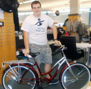 One of the eight winners of Blue Colt Bookstore's Retro Bicycle Buyback contest!