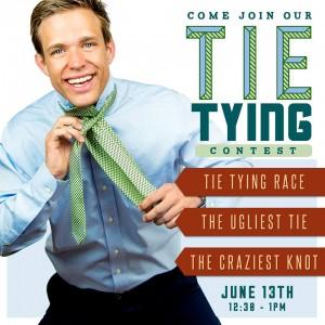 BYU Bookstore Tie Tying Contest