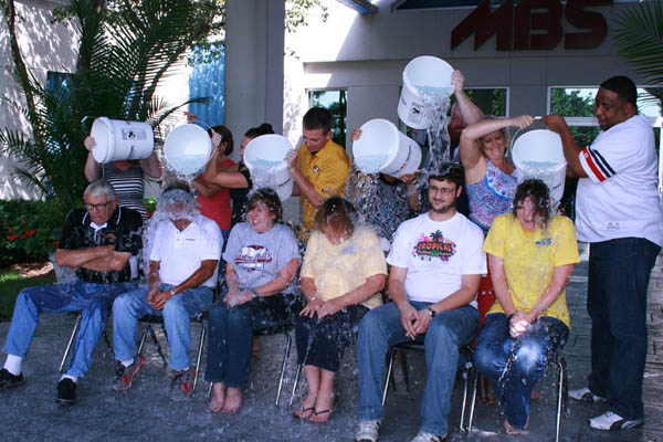 Several people at MBS took the plunge recently and participated in the Ice Bucket Challenge.