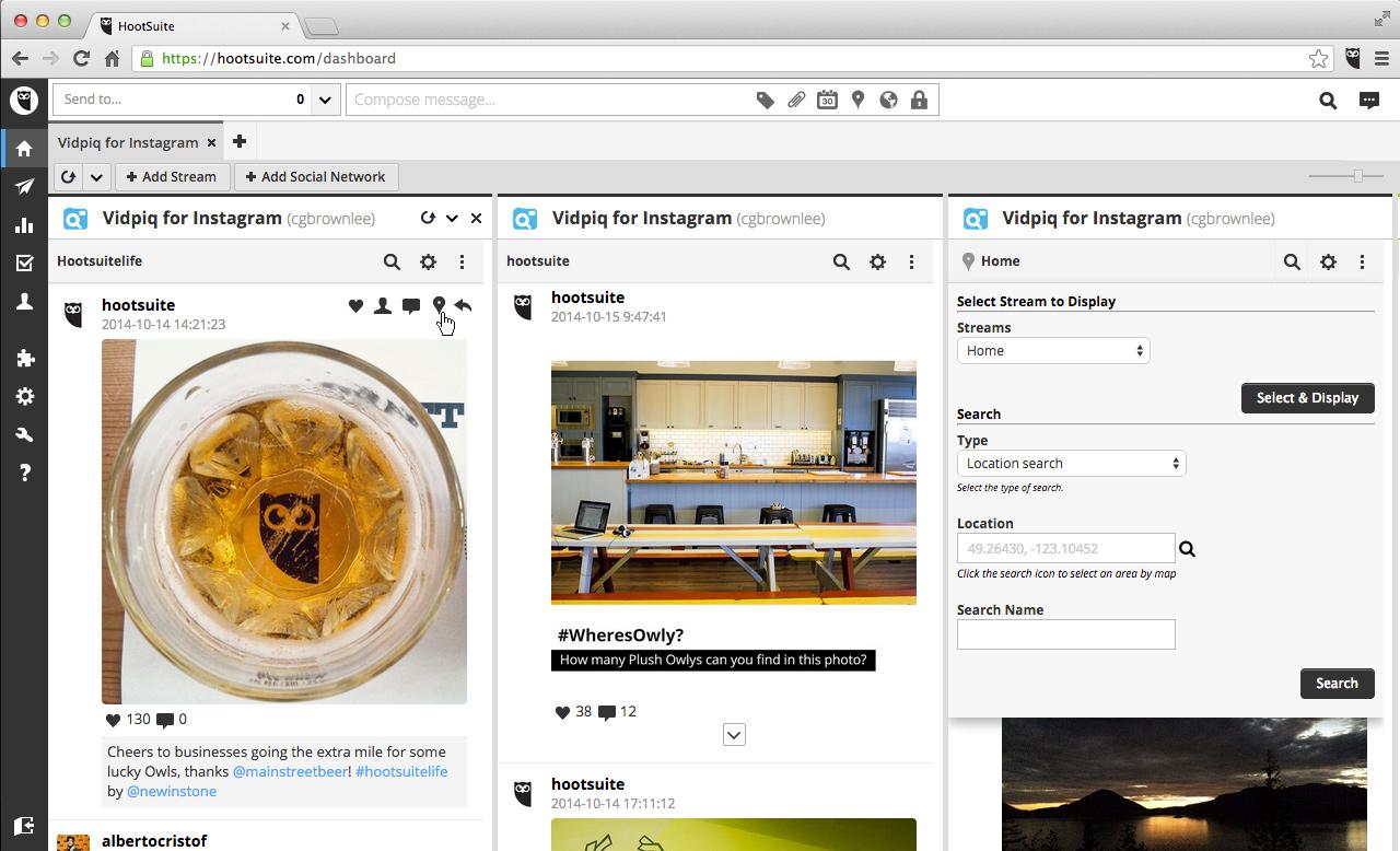social media monitoring tool - Vidpiq for Instagram