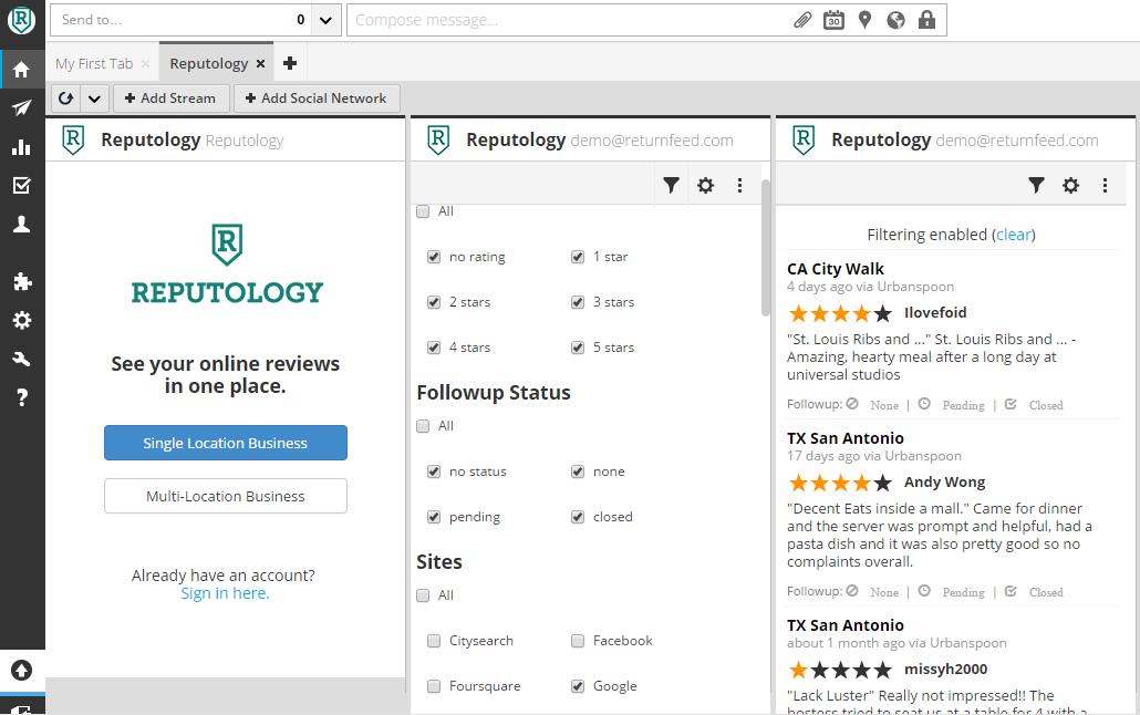 social media monitoring tool - Reputology