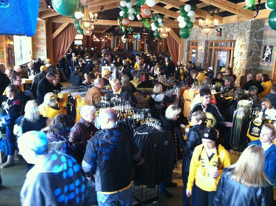 Shockers fans got to peruse spirit gear, items and more during Arch Madness.