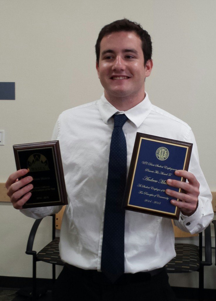 Andrew Musca, with awards