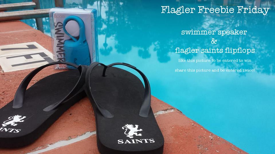 """Flagler College Bookstore's first-ever Facebook giveaway. The event was later rebranded as """"FlaglerFreeBeeFriday"""" and uses a bee as a mascot."""