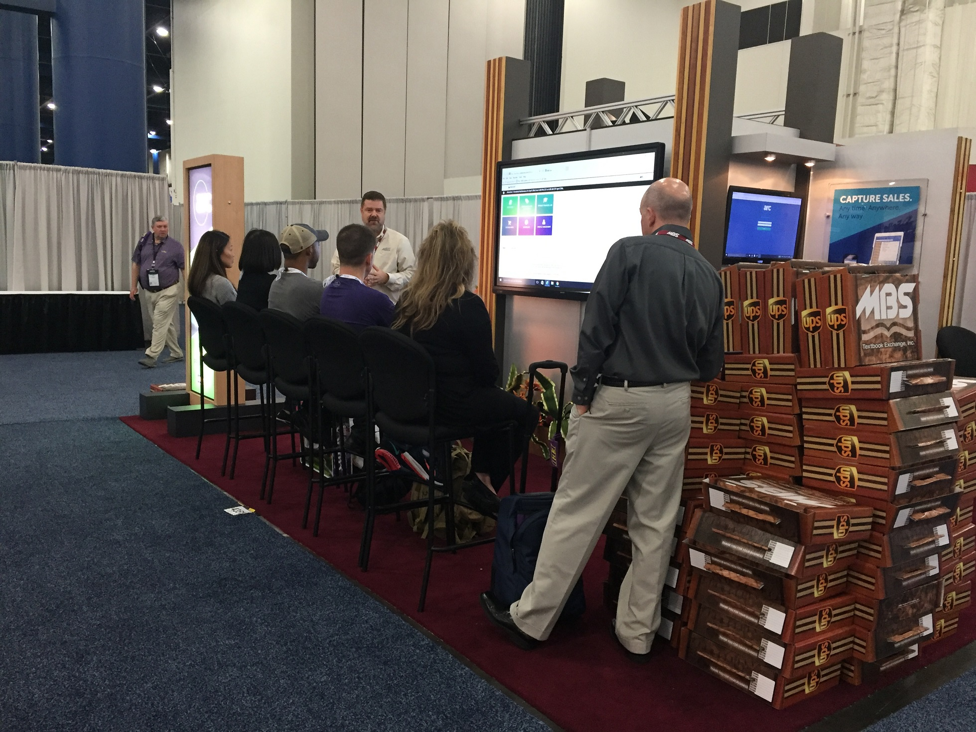 MBS Systems Sales Consultant Vic Hoffman showcases Arc at CAMEX.