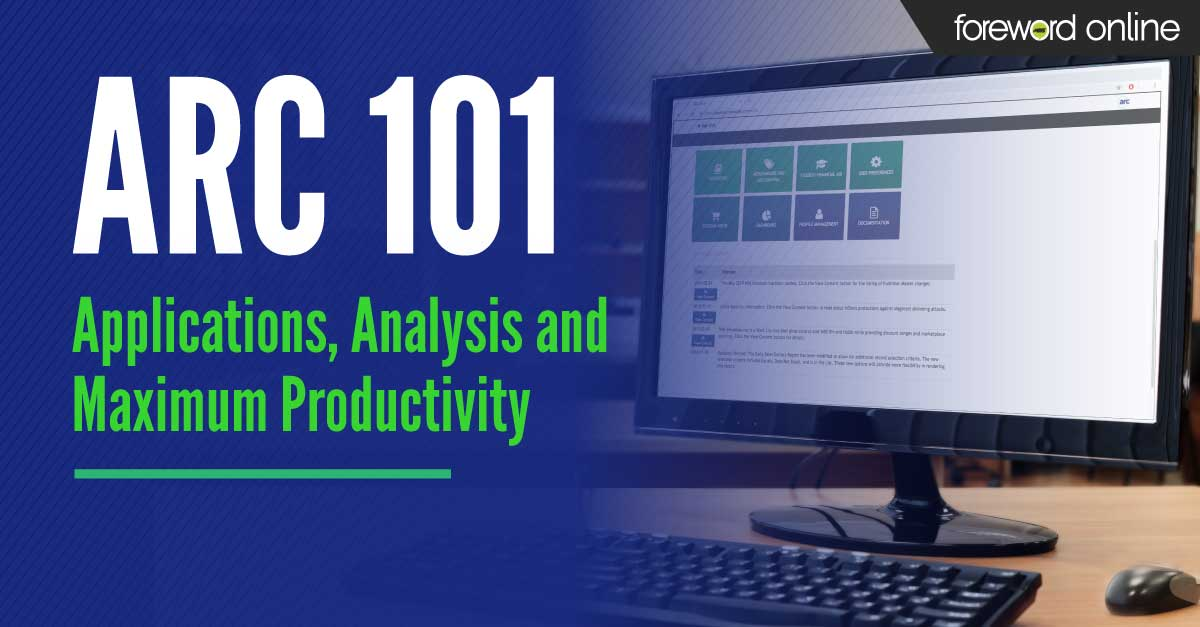 Arc 101 - Applications, analysis, and maximum productivity