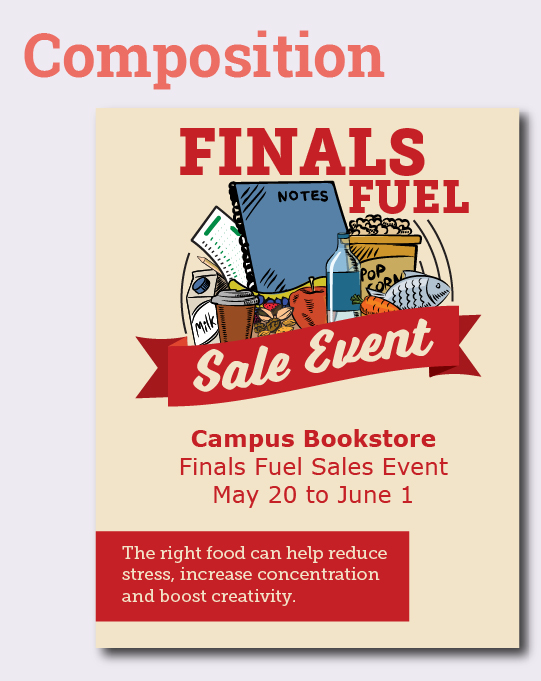 Improve your campus store graphics — Composition
