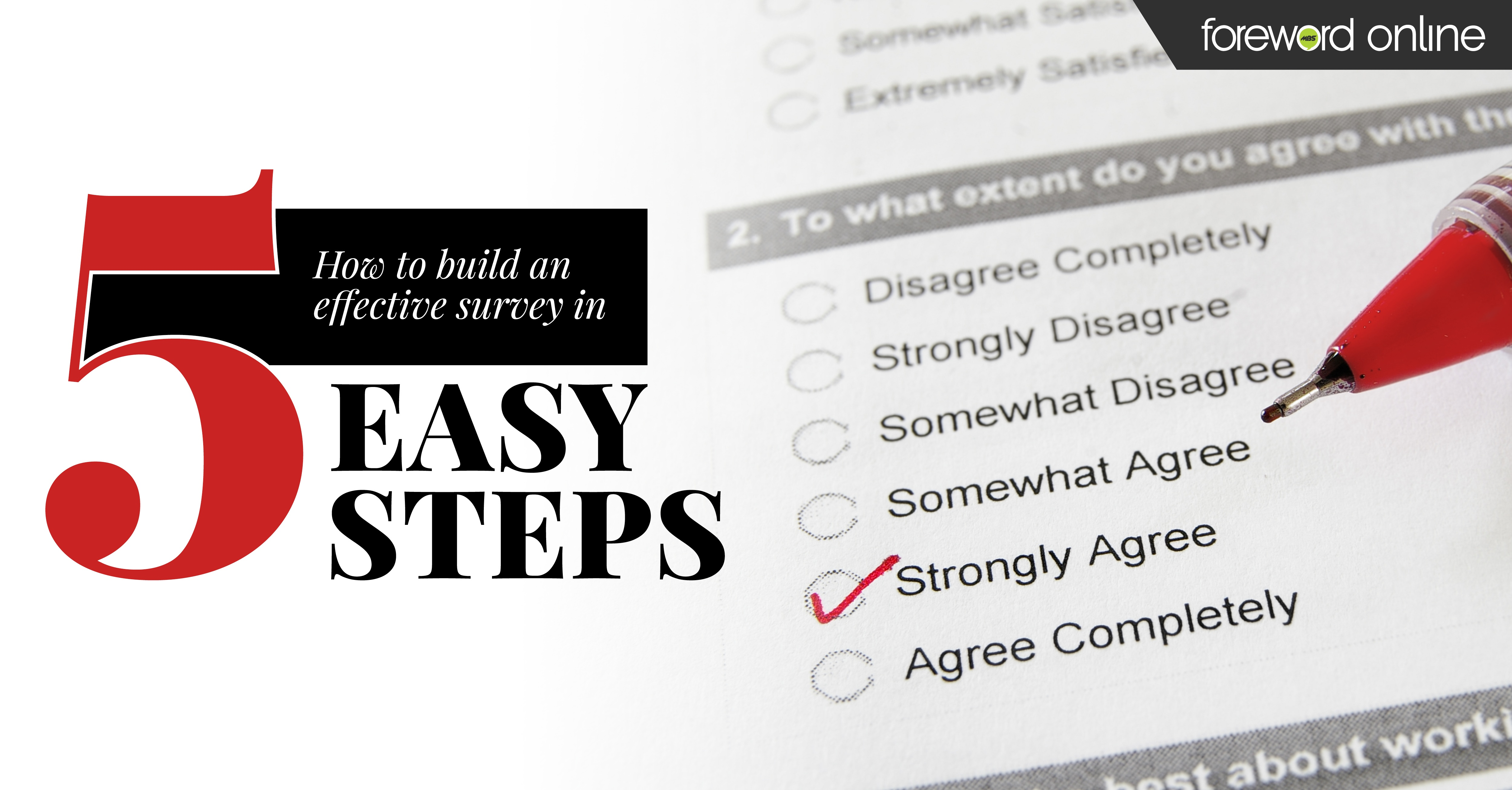 How to Build an Effective Survey in 5 Easy Steps
