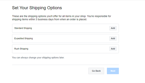 """Set Your Shipping Options"""