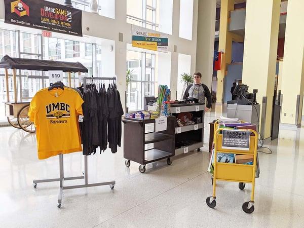 UMBC Bookstore sidewalk sale