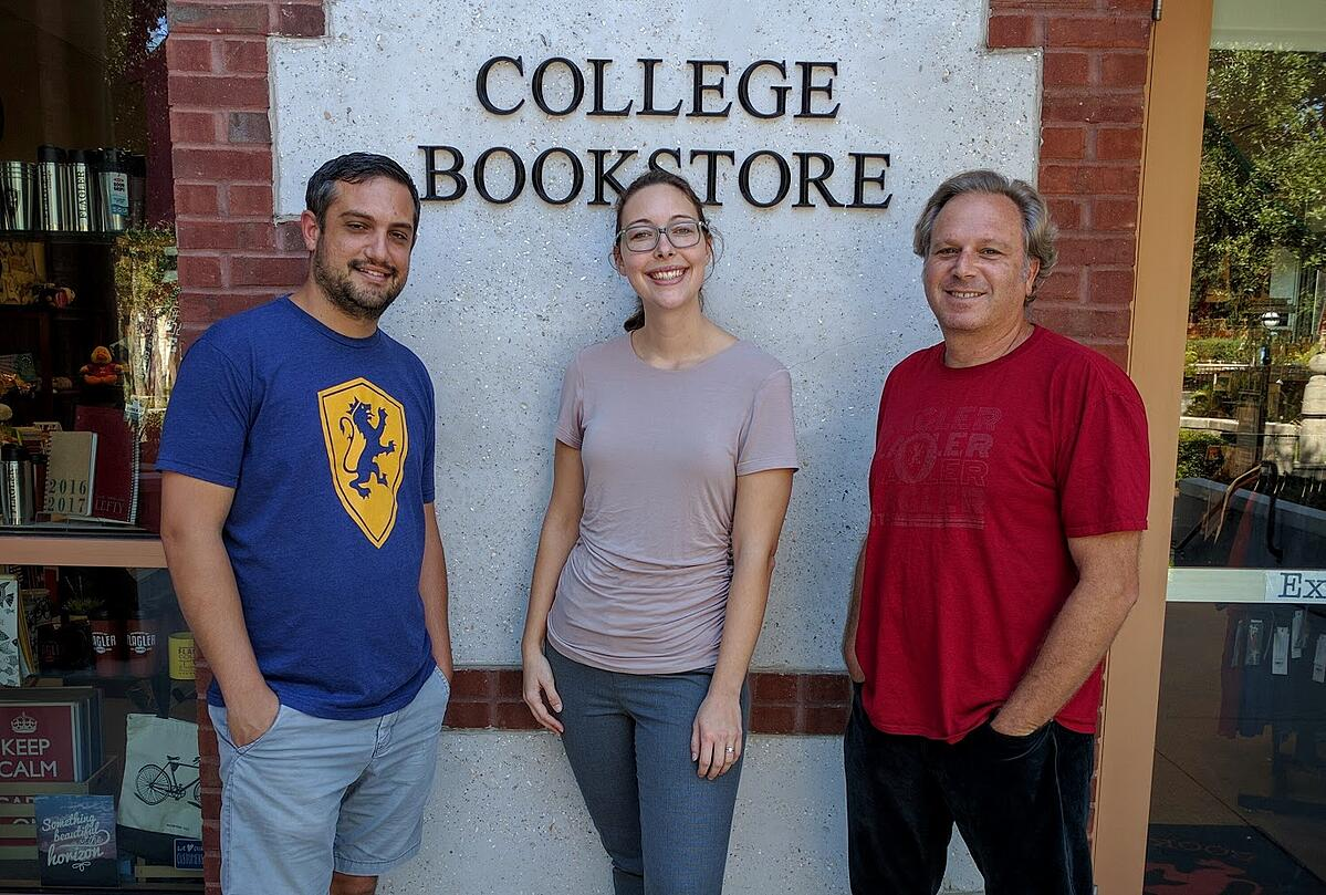 Pete Previte, Nichol Weisbecker and Trevor Smith, Flagler College Bookstore