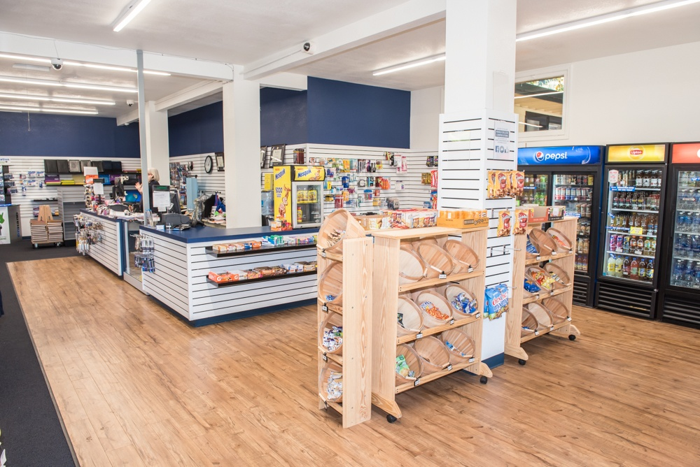 The remodeled Menlo College Campus Store. Photo credit: Andrey Poliakov, Menlo College.