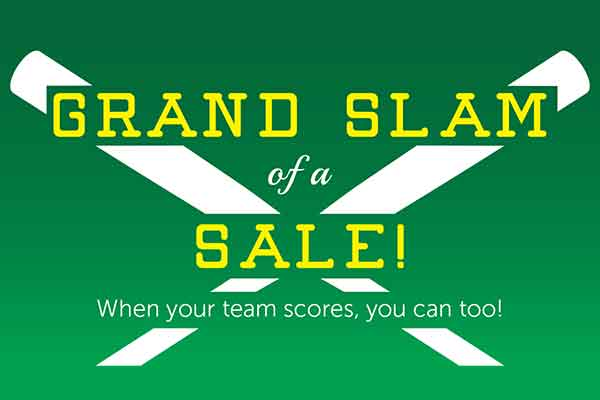 Host a Grand Slam of a Sale