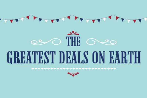 The Greatest Deals on Earth