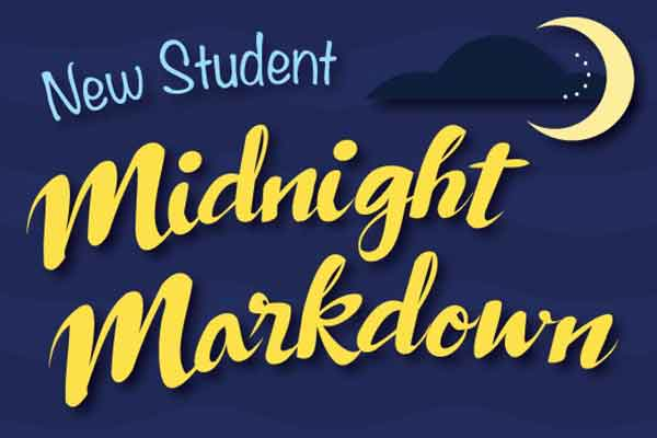 New Student Midnight Markdown