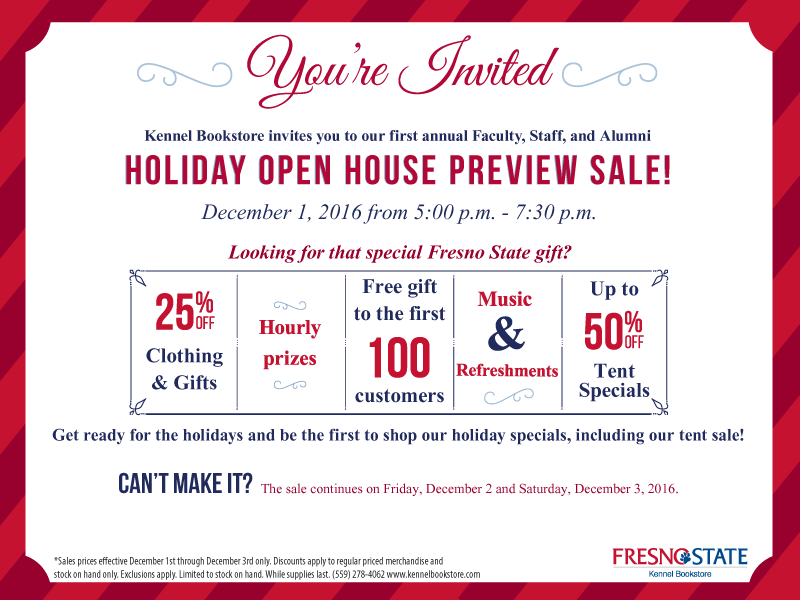 Kennel Bookstore Holiday Open House Preview Sale