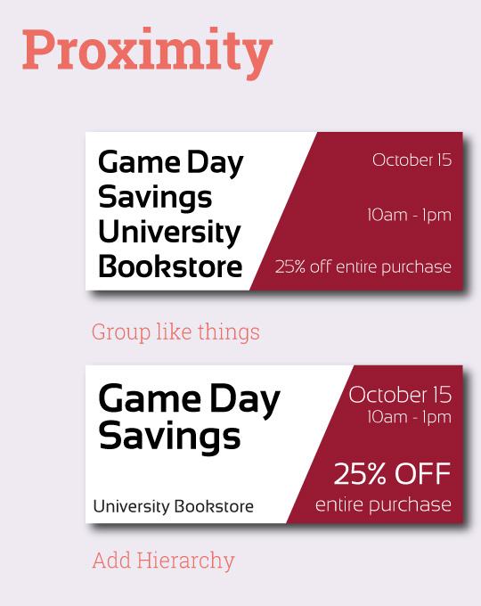 Improve your campus store graphics — Proximity