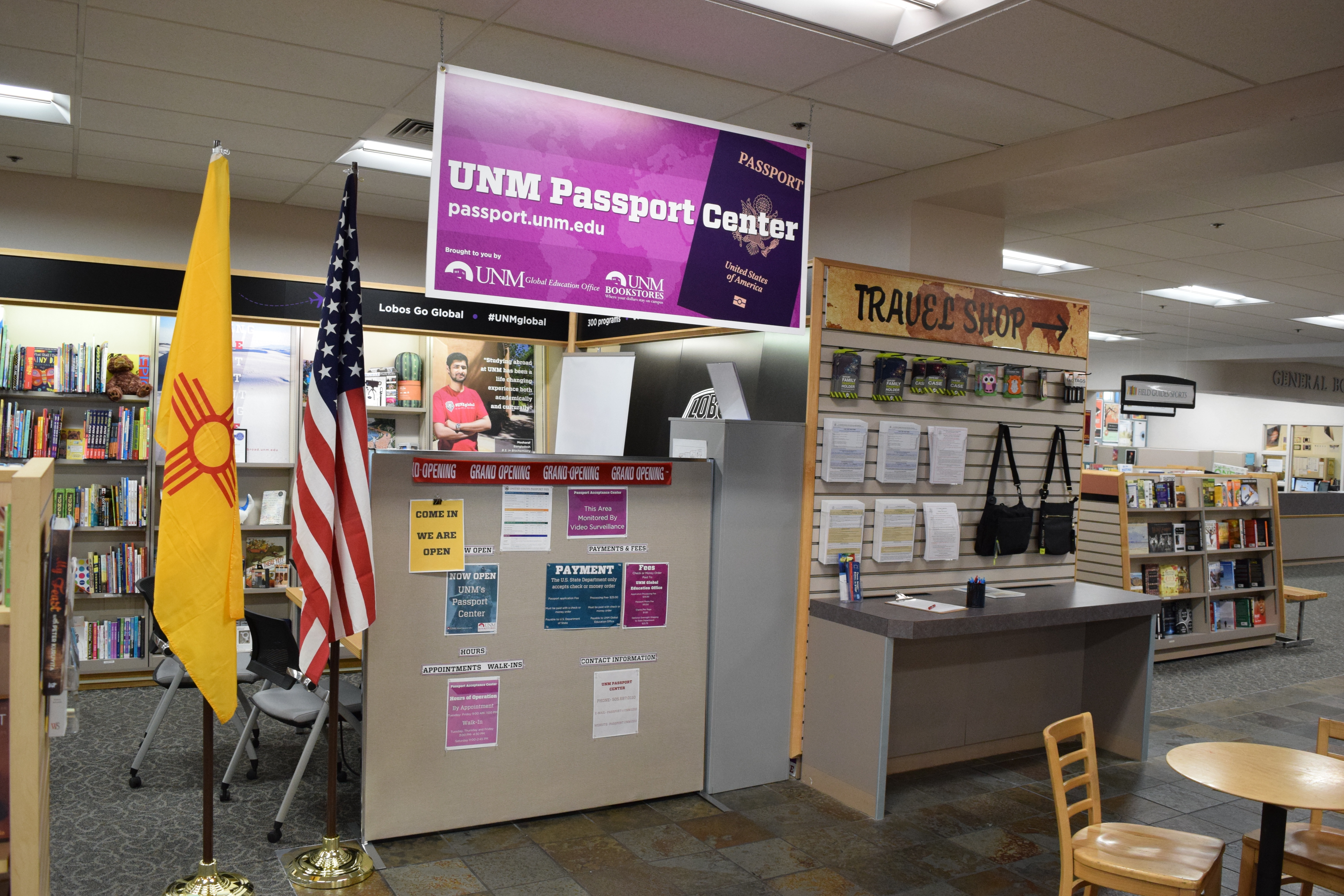 UNM Bookstore Goes Global with a New Passport Center