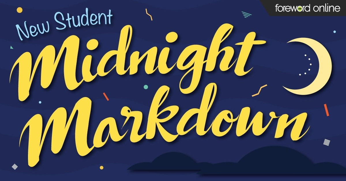 New Student Midnight Markdown