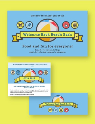 "Download: ""Welcome Back Beach Bash"" marketing kit"