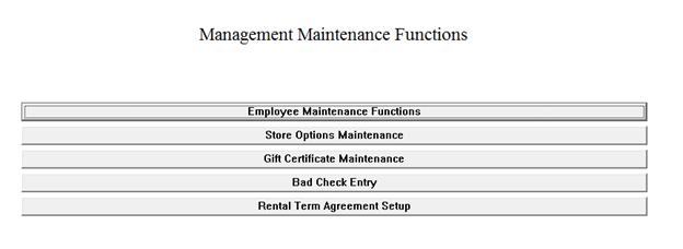 Employee maintenance functions