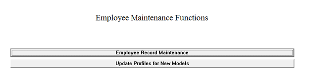Employee maintenance